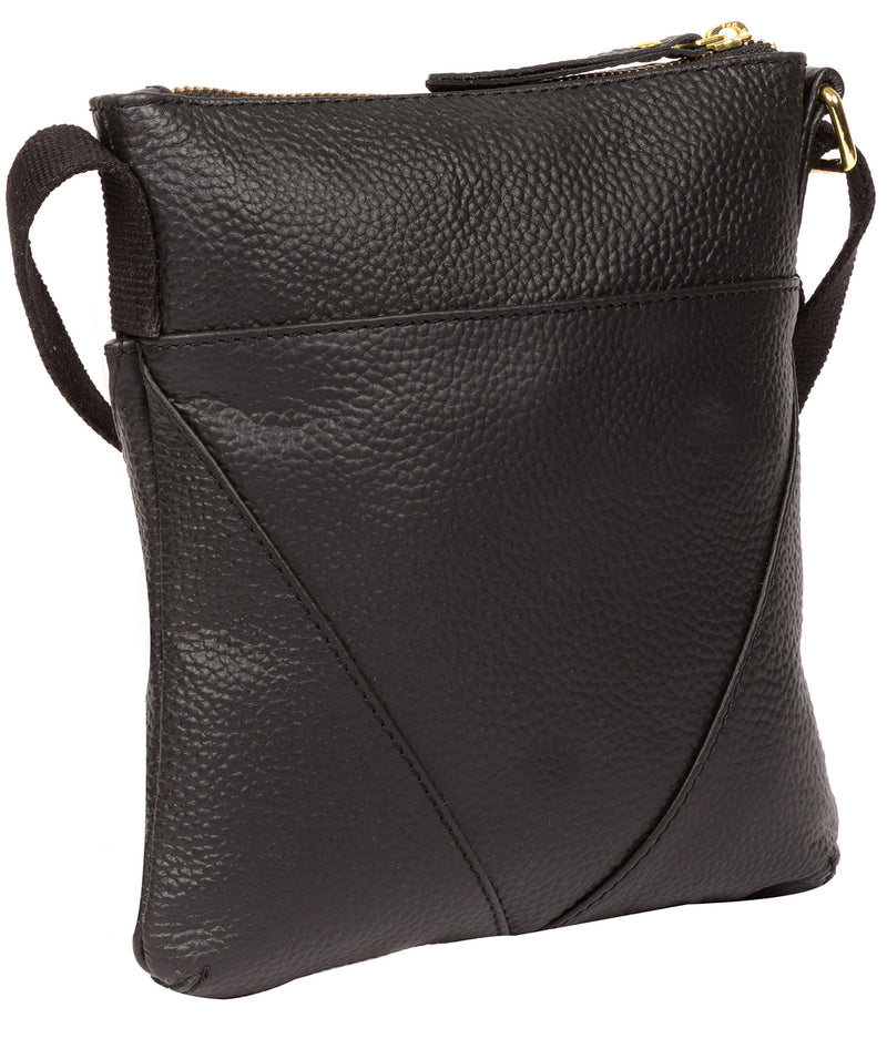'Rebecca' Black Leather Cross Body Bag image 3