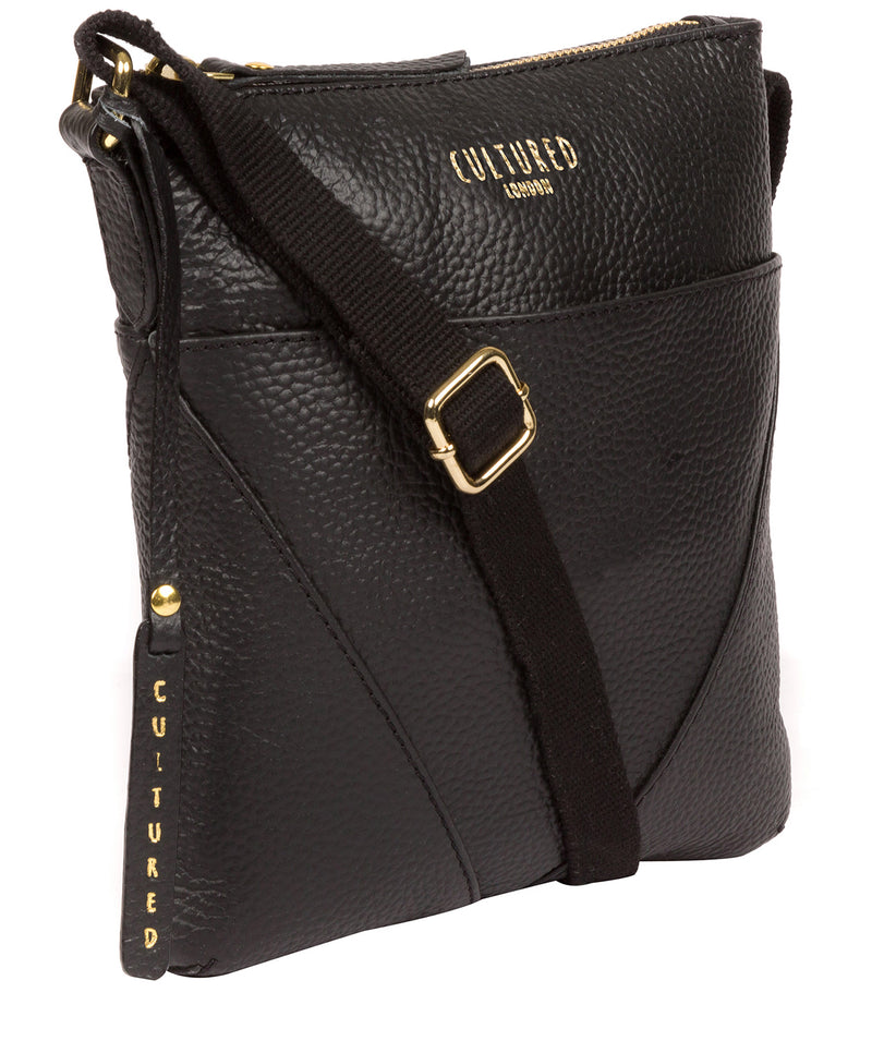 'Rebecca' Black Leather Cross Body Bag image 5