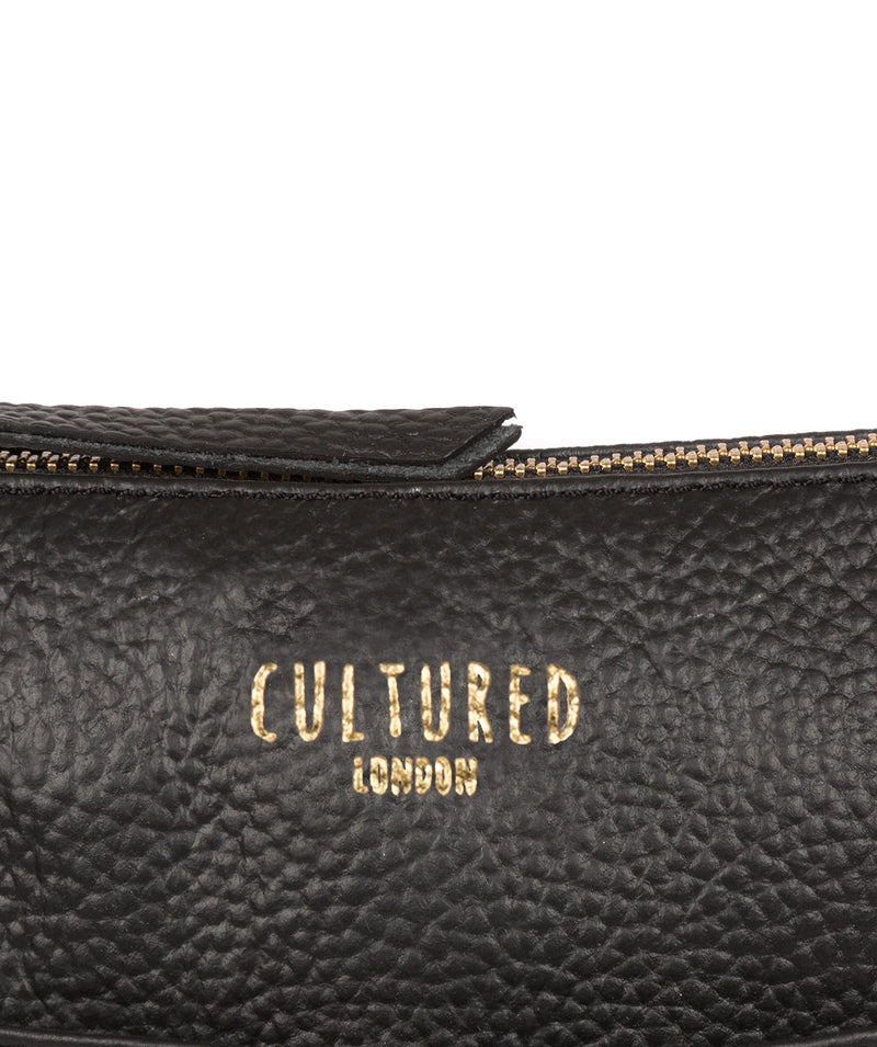 'Rebecca' Black Leather Cross Body Bag image 6