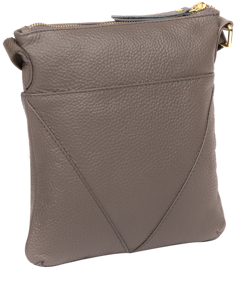 'Rebecca' Silver Grey Leather Cross Body Bag image 3