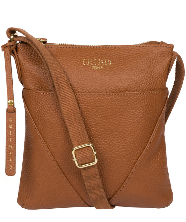 'Rebecca' Tan Leather Cross Body Bag image 1