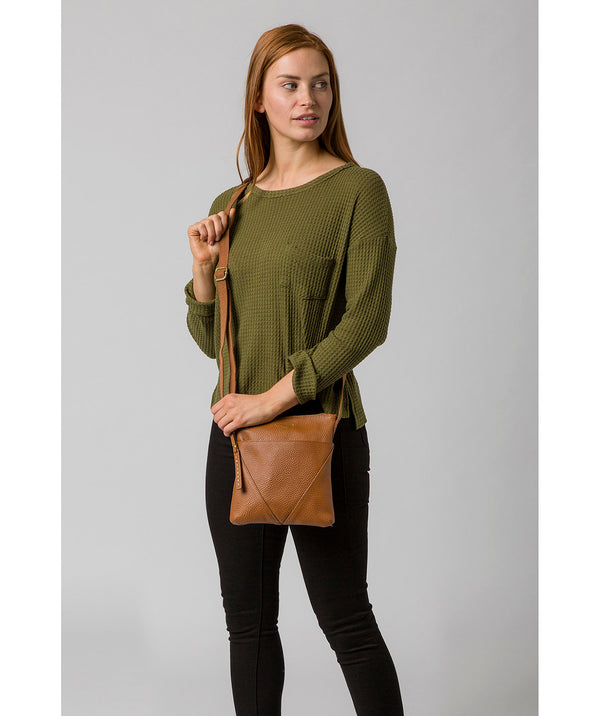 'Rebecca' Tan Leather Cross Body Bag image 2