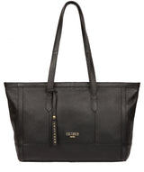 'Silvana' Black Leather Tote Bag image 1