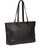 'Silvana' Black Leather Tote Bag image 3