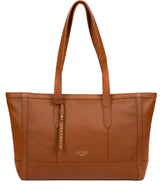 'Silvana' Tan Leather Tote Bag image 1