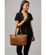 'Silvana' Tan Leather Tote Bag image 2
