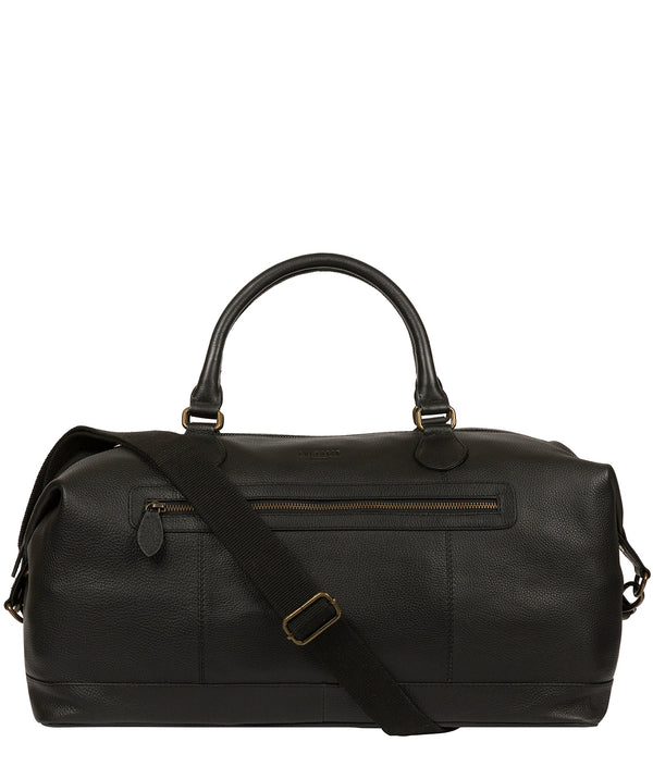 'Harbour' Black Leather Holdall image 1