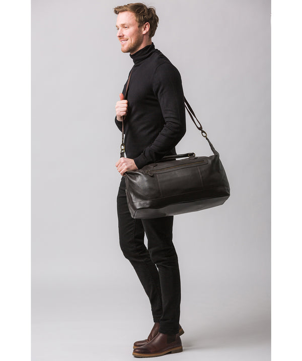 'Harbour' Brown Leather Holdall