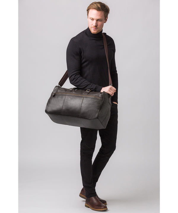 'Helm' Brown Leather Holdall