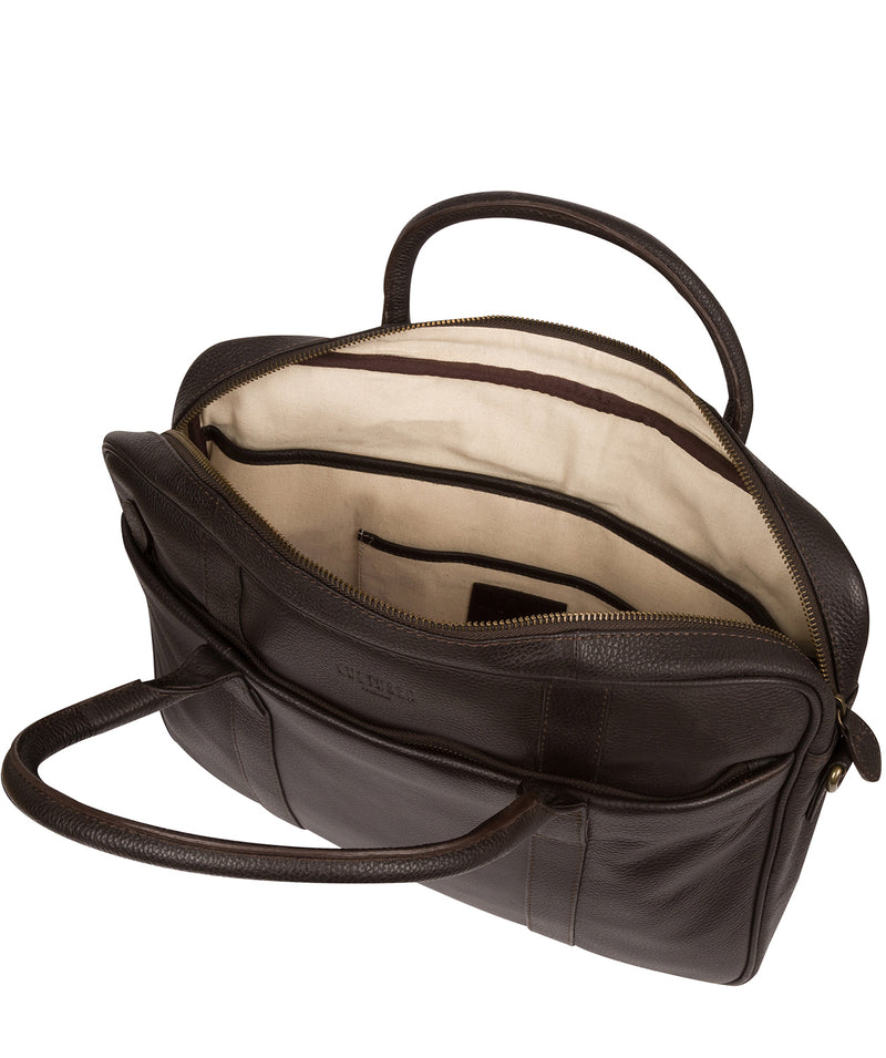 'Quay' Brown Leather Work Bag Pure Luxuries London