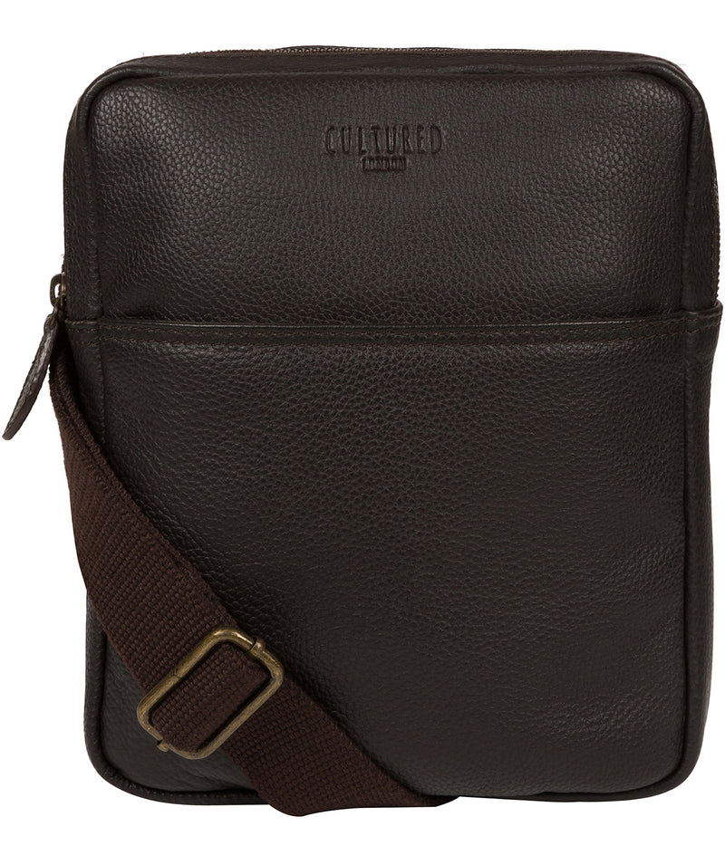 'Fargo' Brown Leather Cross Body Bag image 1