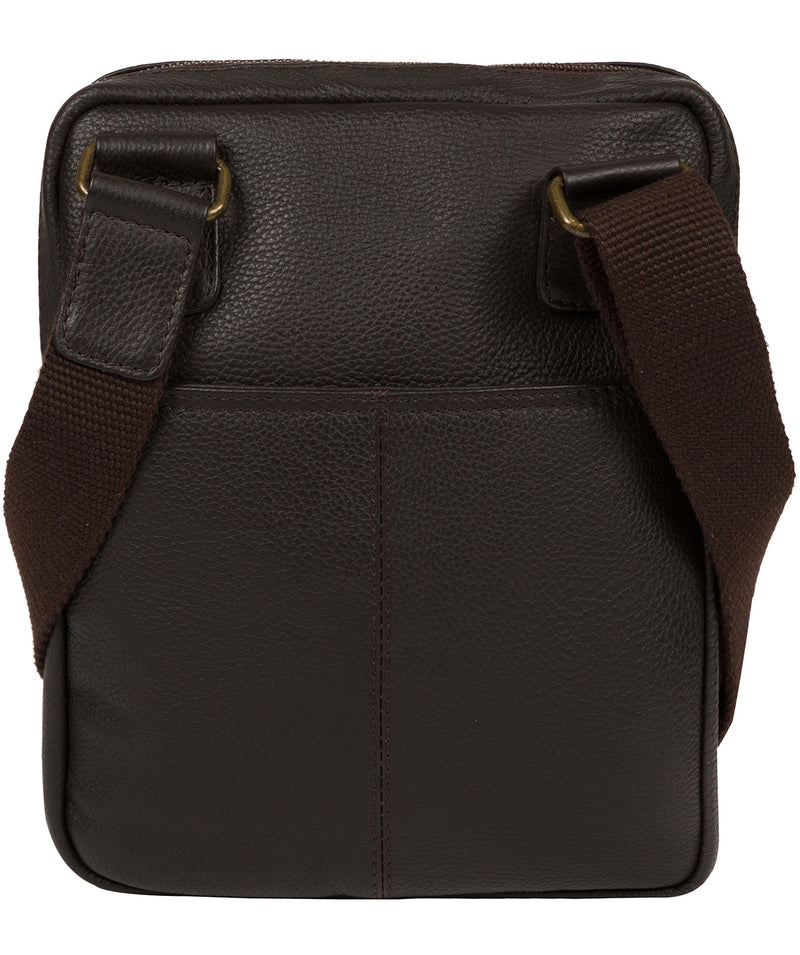'Fargo' Brown Leather Cross Body Bag image 3