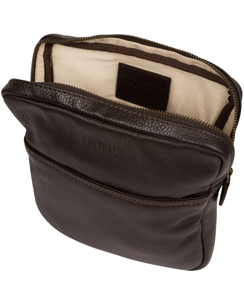 'Fargo' Brown Leather Cross Body Bag image 4