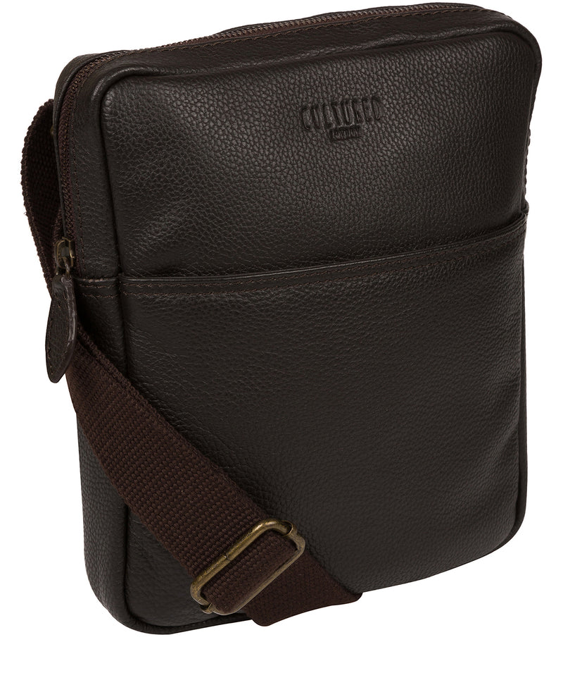 'Fargo' Brown Leather Cross Body Bag image 5