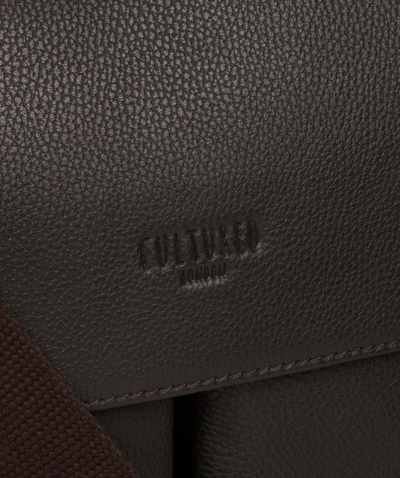 'Mast' Brown Leather Work Bag image 6