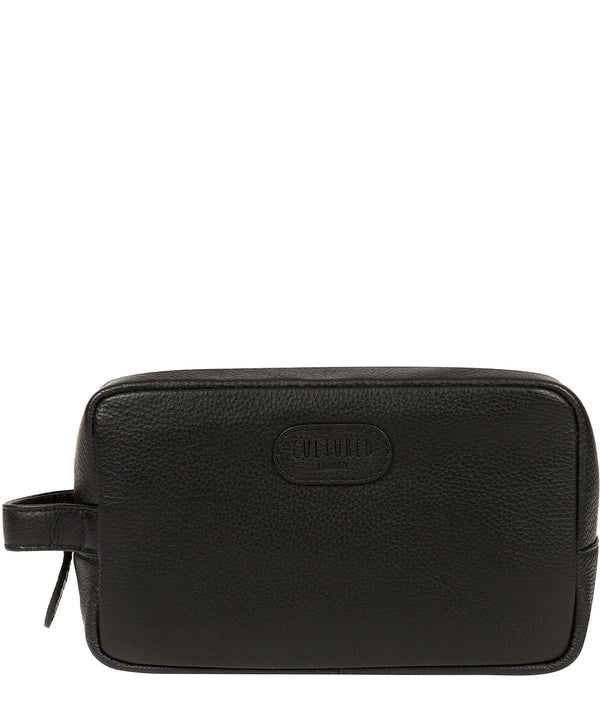 'Ronnie' Black Leather Washbag image 1