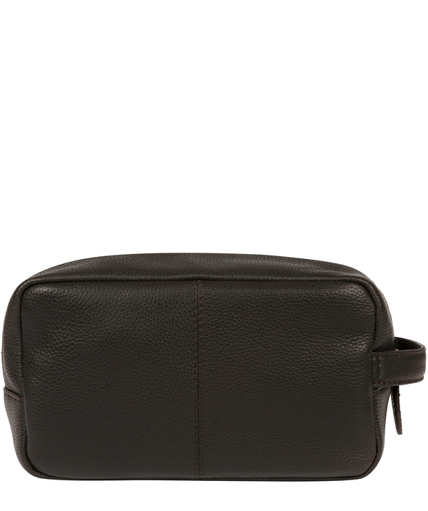 'Ronnie' Brown Leather Washbag image 3