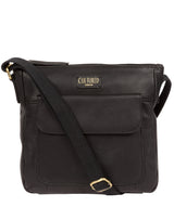 'Elna' Ebony Leather Cross Body Bag image 1