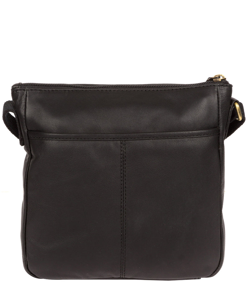 'Elna' Ebony Leather Cross Body Bag image 3