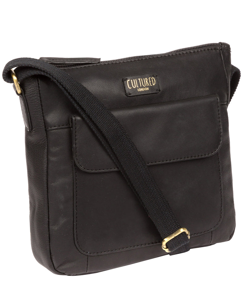 'Elna' Ebony Leather Cross Body Bag image 5