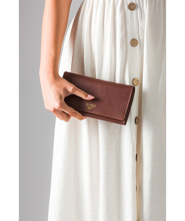 'Harlow' Chestnut Leather Purse
