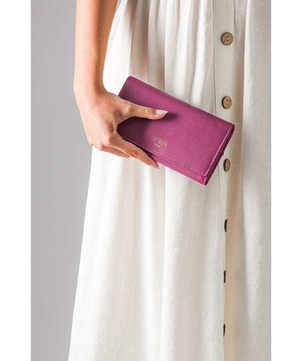 'Harlow' Damson Leather Purse