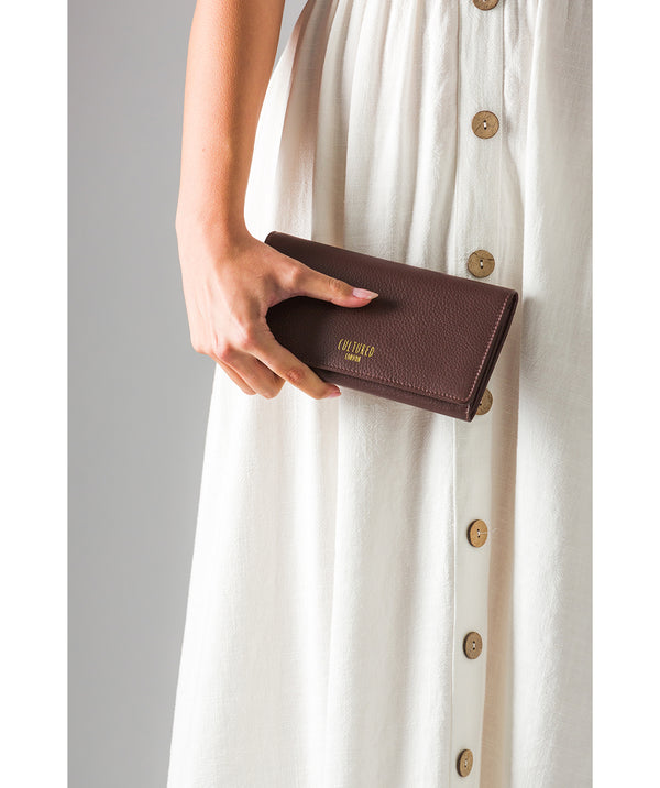 'Harlow' Dark Tan Leather Purse