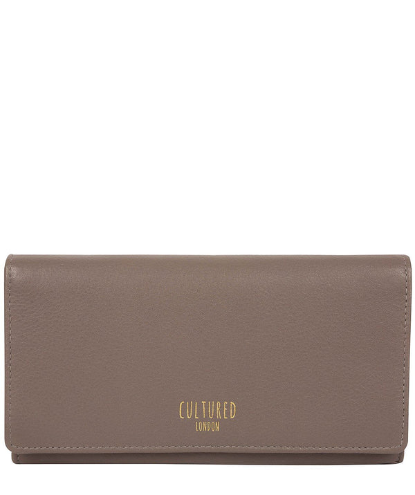 'Harlow' Elephant Grey Leather Purse Pure Luxuries London