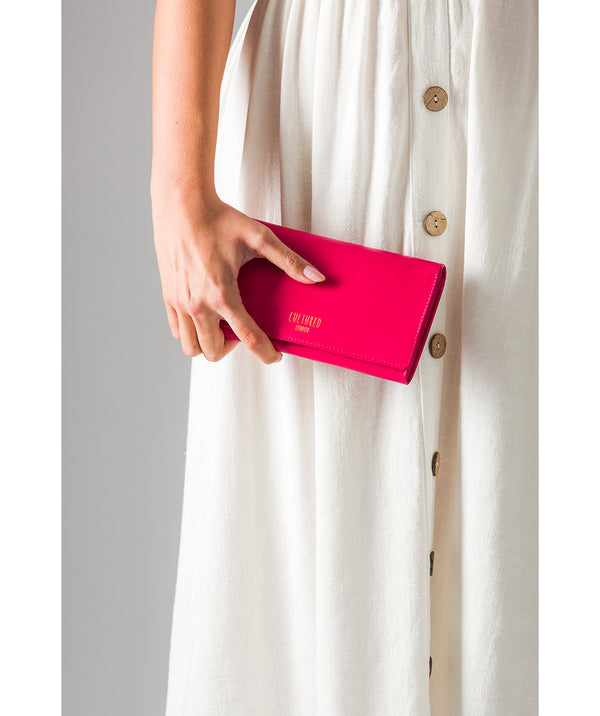 'Harlow' Fushia Leather Purse
