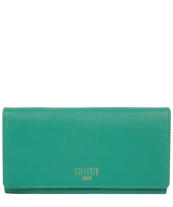 'Harlow' Leaf Green Leather Purse