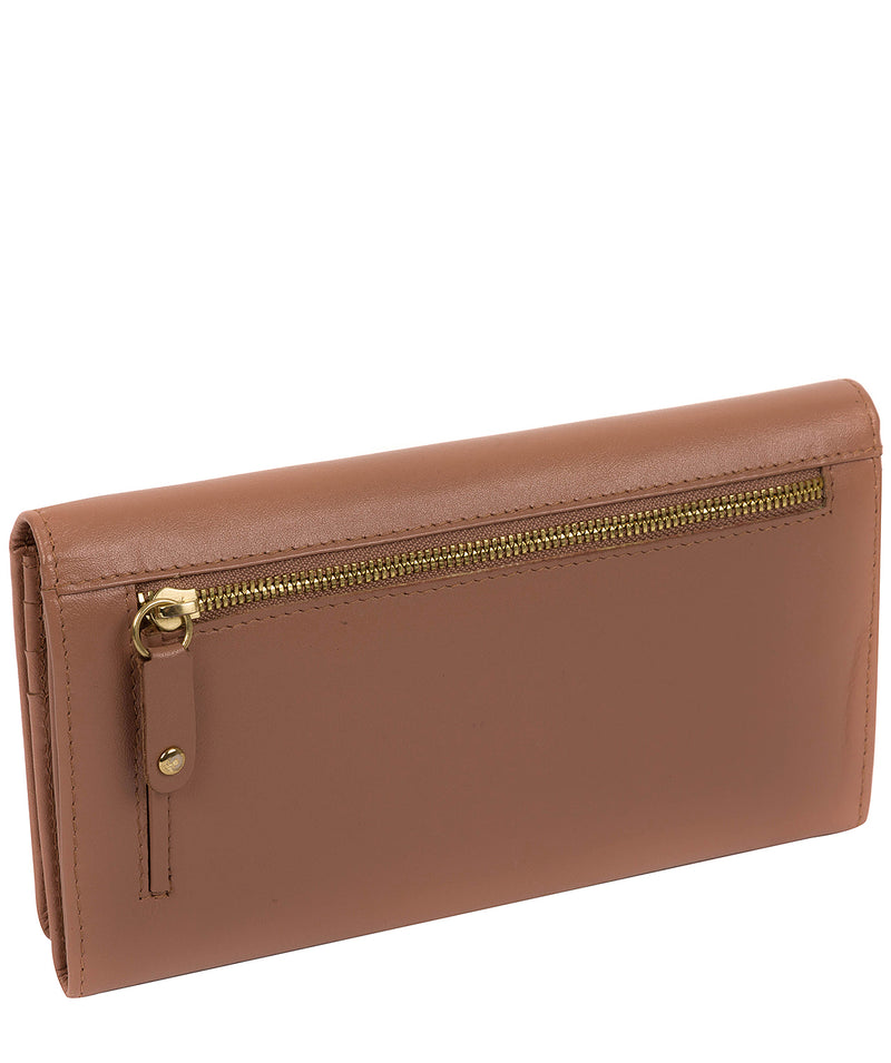 'Harlow' Mocha Leather Purse Pure Luxuries London