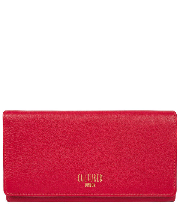 'Harlow' Red Leather Purse