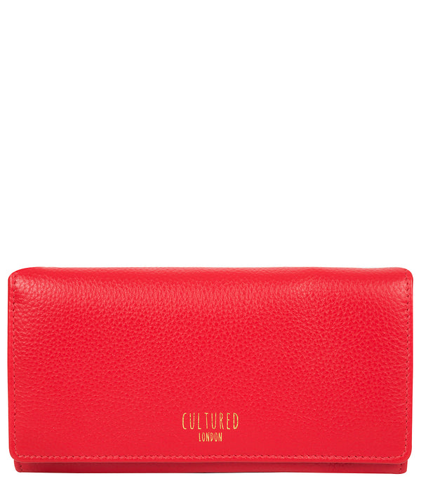 'Harlow' Royal Red Leather Purse Pure Luxuries London