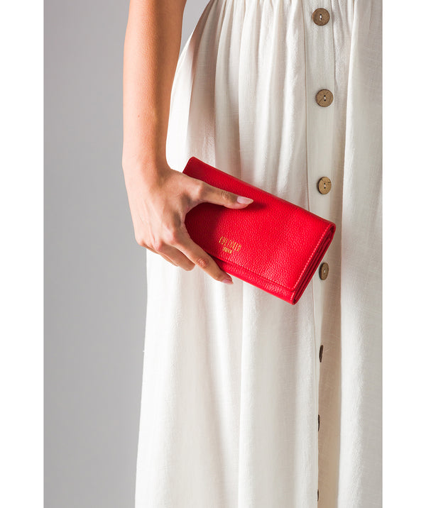 'Harlow' Royal Red Leather Purse