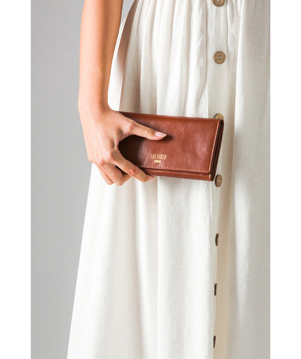'Harlow' Saddle Leather Purse