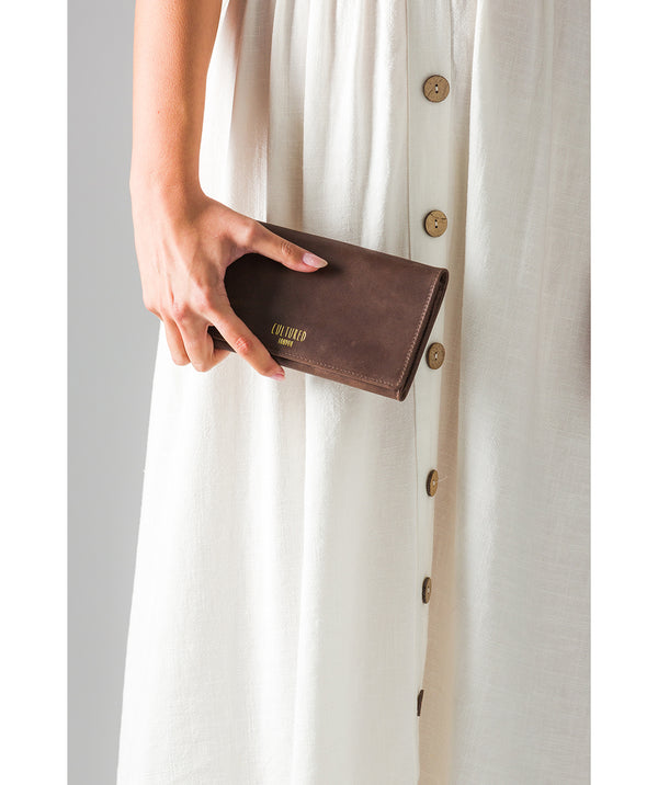 'Harlow' Vintage Brown Leather Purse