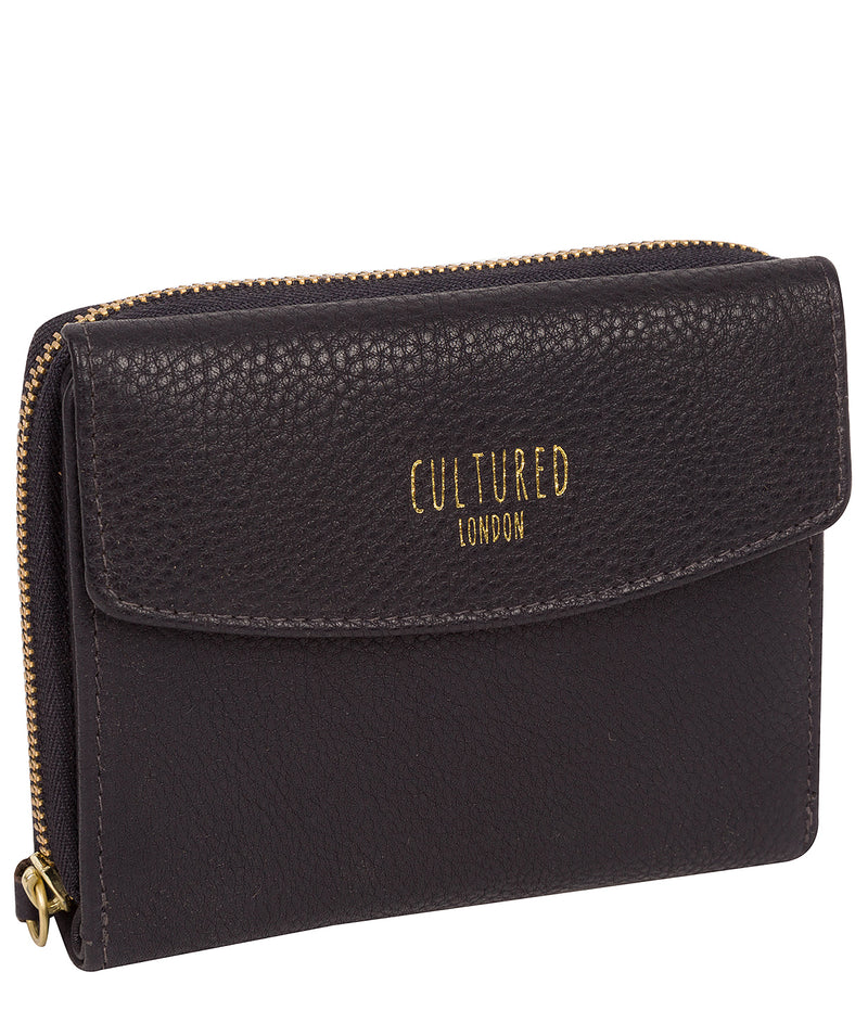 'Allergra' Midnight Leather Purse