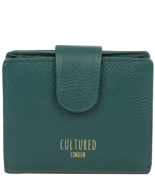 'Annalise' Hunter Green Leather Purse Pure Luxuries London