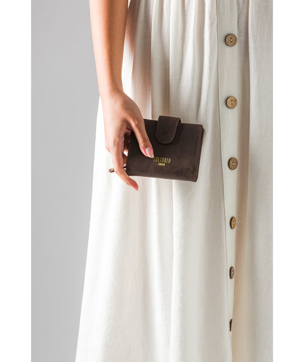 'Annalise' Vintage Brown Leather Purse