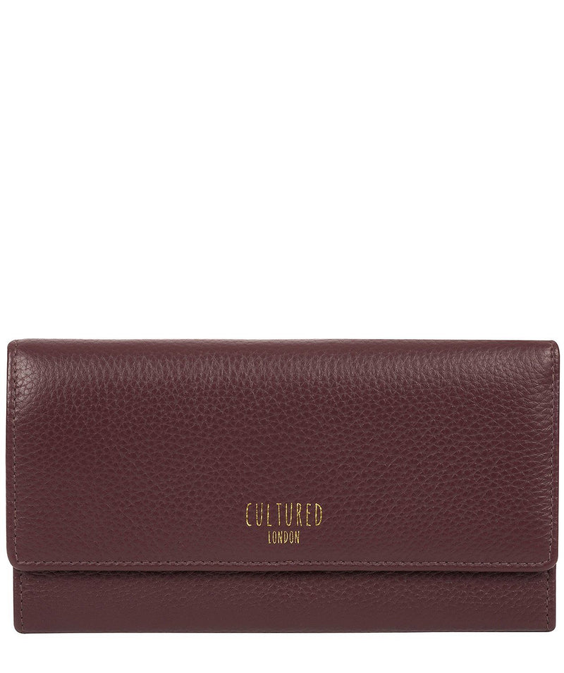 'Lorelei' Dark Burgundy Leather Purse Pure Luxuries London