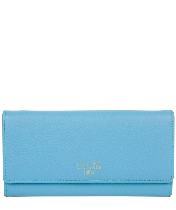 'Lorelei' Sky Blue Leather Purse