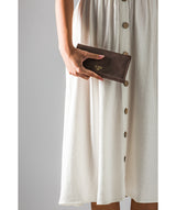 'Lorelei' Vintage Brown Leather Purse