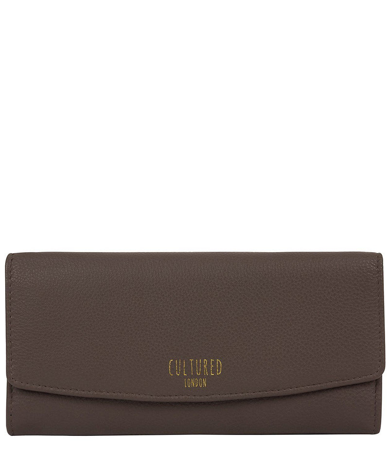 'Tallulah' Elephant Grey Leather Purse Pure Luxuries London