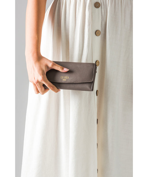 'Talulla' Elephant Grey Leather Purse