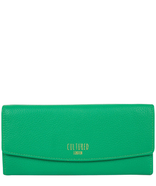'Talulla' Shamrock Green Leather Purse