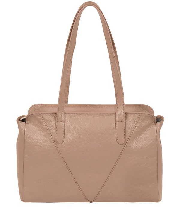 'Greta' Blush Pink Leather Shoulder Bag image 3