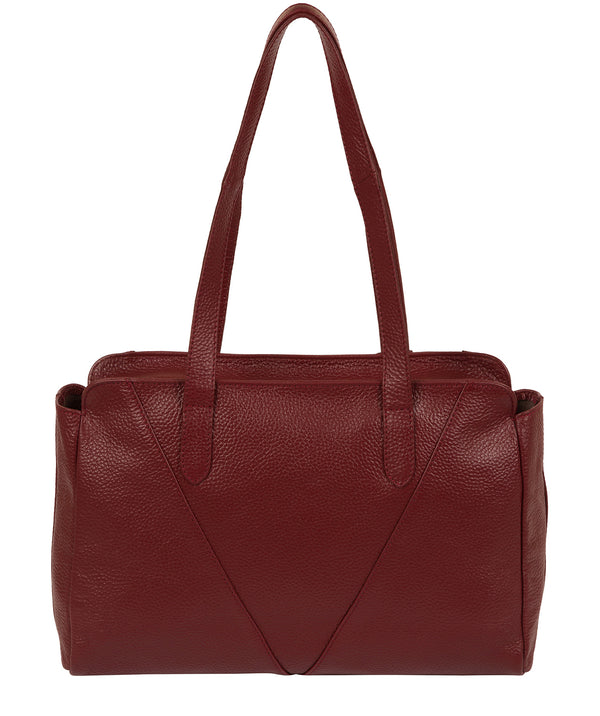 'Greta' Red Leather Shoulder Bag image 3