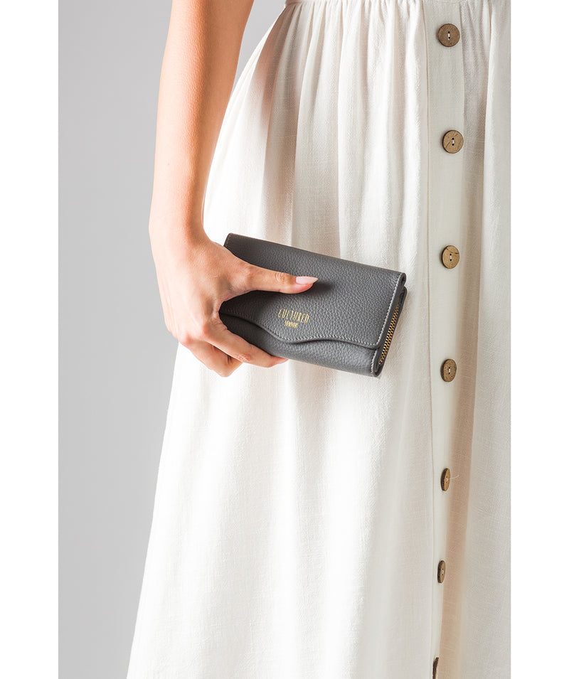 'Letitia' Grey Leather Purse