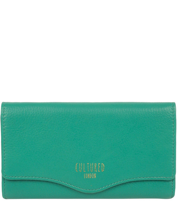 'Letitia' Leaf Green Leather Purse