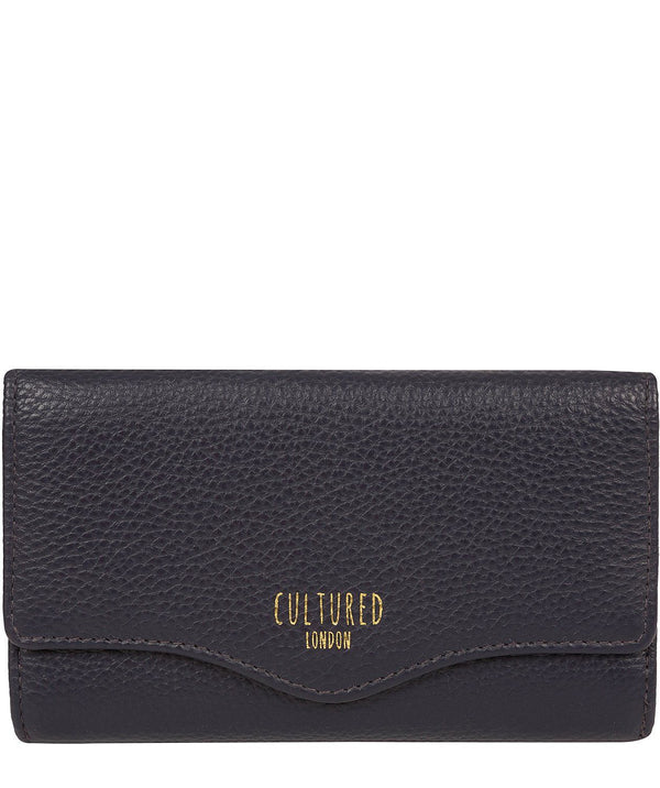 'Letitia' Oxford Blue Leather Purse Pure Luxuries London